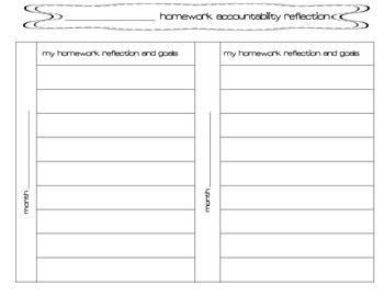Homework Accountability Data and Reflection