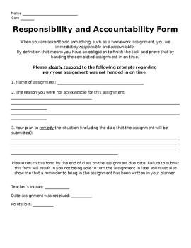 Assignment Accountability Fom