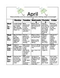 Homework Activities for Kindergarten during April