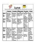 Homework Activities for Kindergarten during June