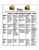 Homework Activities for Kindergarten during May