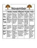 Homework Activities for Kindergarten during November