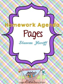 Homework Agenda Portrait