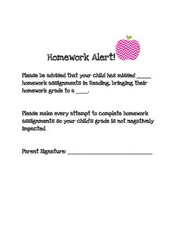 Homework Alert