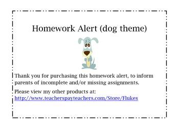 Homework Alert (dog theme)
