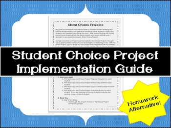 Homework Alternative: How to Implement Student Choice Projects