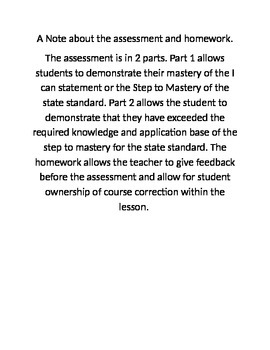 Homework/Assessment for the Earth Science Layers of the ea