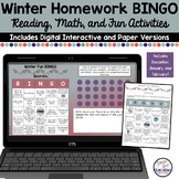 Homework Assignment Bingo Boards Winter Edition