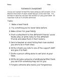 Homework Assignment - First Week of School