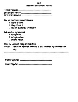 Homework Assignment Missing