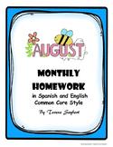 Homework August both English and Spanish