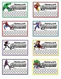 Homework Avengers - Punch Reward Cards