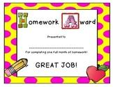 Homework Award