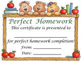 Homework Award/Certificate