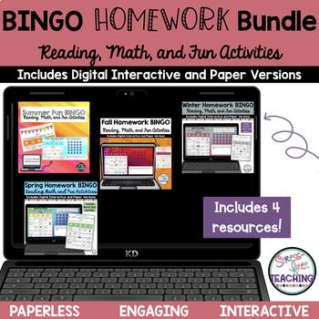 Homework Assignment BINGO Bundle