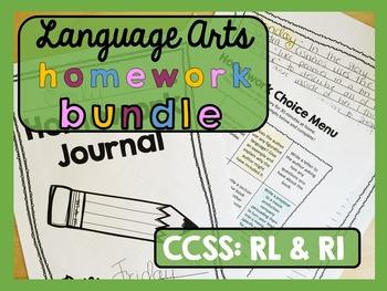Homework BUNDLE - Language Arts