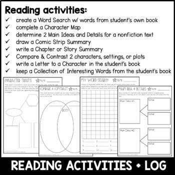 Homework BUNDLE: Winter, Mid Winter, & Spring Breaks 5th Grade