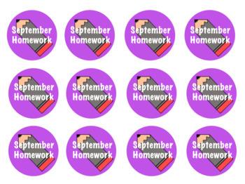 Homework Badges