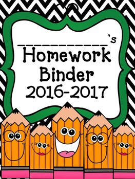 Homework Binder-**Updated for the 2016-2017 school year