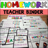 Homework Log for all grades (colored and b/w)