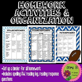 Homework Binder Inserts
