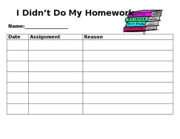 Homework Binder Pages