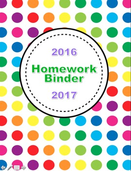 Homework Binder Resources for the Teacher