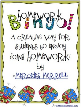 Homework Bingo! A Creative Way for Students to Do Homework
