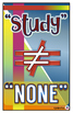 """Homework Board - Definition of """"Study"""" Poster"""