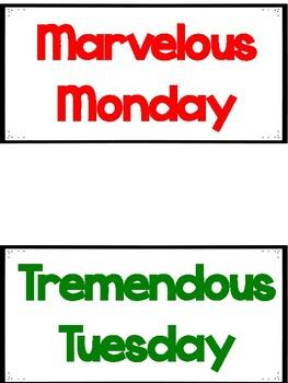 Homework Board Labels