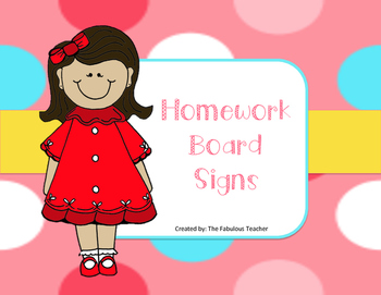 Homework Board Signs