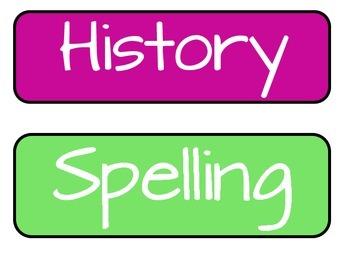 Homework Board Titles