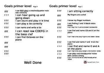 Homework Book Goals Achievement Primer Pg 1 and 4