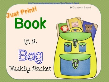 Homework Book Reports: Book in a Bag Activity Packet