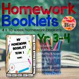 Homework Booklets Yr 3 - 4 (40 Weeks)