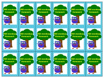 Homework Brag Tags Polka Dot Monster Theme