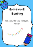 Homework Bunting