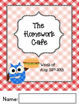 Homework Cafe Year-Long Editable Bundle-Reading and Math