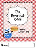 Homework Cafe Year-Long Editable Bundle-Reading and Math