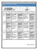 August Homework Calendar for PreK, K and 1st