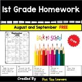 Homework Calendar   First Grade   August   September