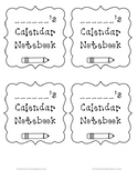 Homework Calendar Labels