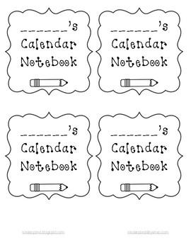 Homework Calendar Labels