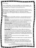 Homework Calendar Parent Letter for PreK, K, 1