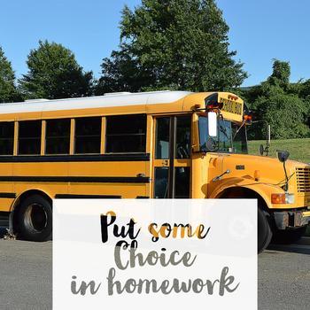 Homework Calendar for August and September
