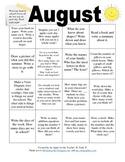 Homework Calendar/Activity Calendar for August