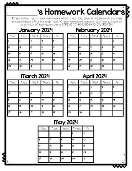February 2020 Behavior Calendar Homework and Behavior Calendars 2019 2020 | TpT