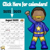 Homework Calendars 2018-2019 {Editable}