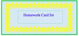 Homework Card