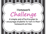 Homework Challenge- Motivation & Incentives to Get Students to Turn In Homework